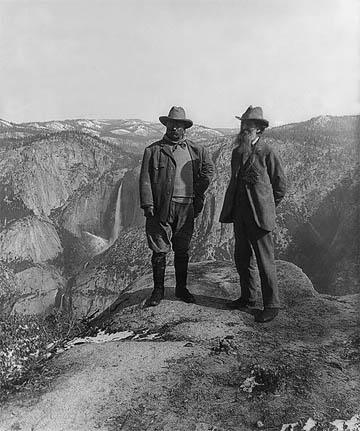 Teddy Roosevelt and John Muir at Yosemite