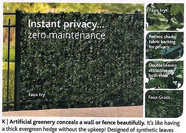 Faux nature in Skymall