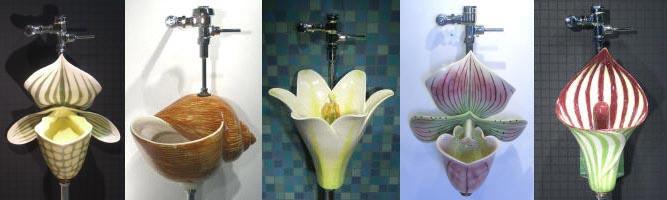 glass urinals