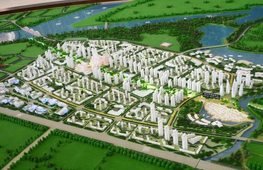 Tianjin Eco-City model. Image credit: GreenLeapForward.com