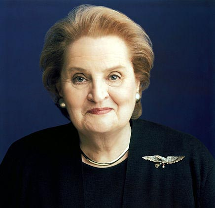 Secretary of State Madeleine Albright in 1997 (public domain, http://commons.wikimedia.org/wiki/File:Albrightmadeleine.jpg)