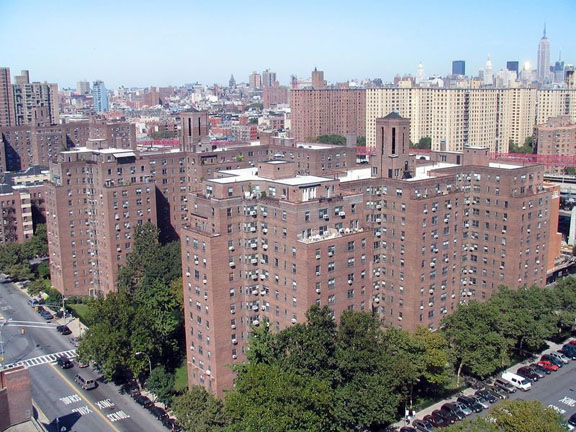 "Lower East Side ""towers in the park."" image credit Wikimedia Commons"