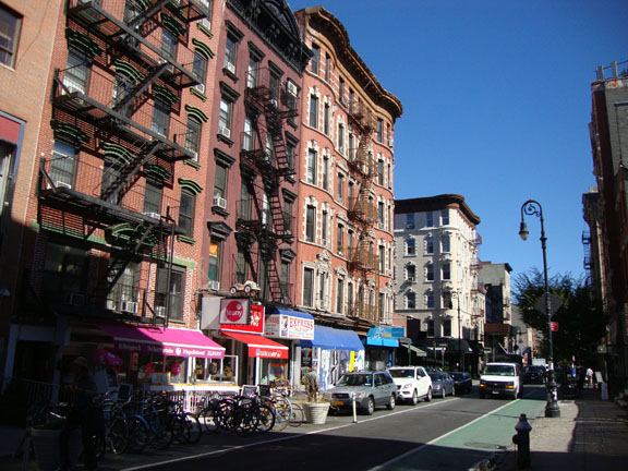 A street in the Lower East Side. Photo by author.