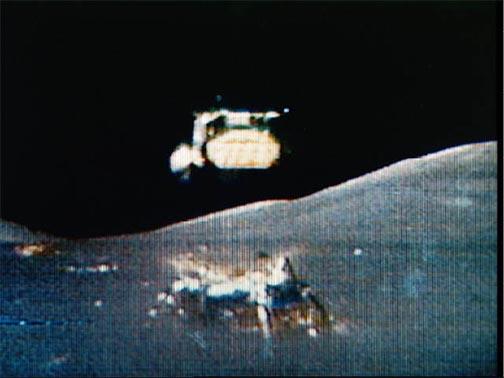 Lunar liftoff. Image credit: Wikimedia