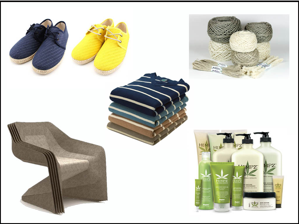 Hemp products. Images: screen grabs