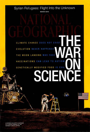 The cover of the March 2015 issue of National Geographic