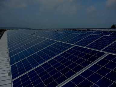 solar panels dark