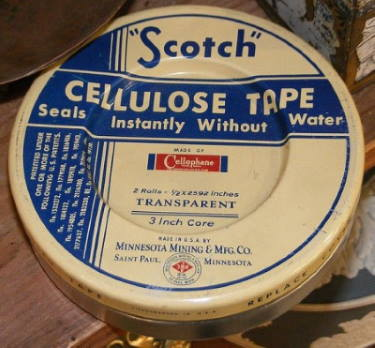 Scotch tape made from cellulose/cellophane