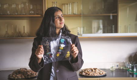 High School student who made bioplastic from prawn shells