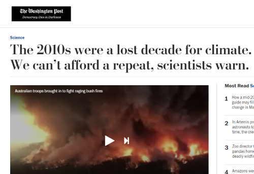 Washington Post lost decade headline screenshot